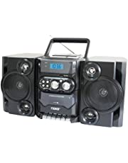 NAXA Electronics Portable MP3/CD Player with AM/FM Stereo Radio and Cassette Player/Recorder (NPB-428)