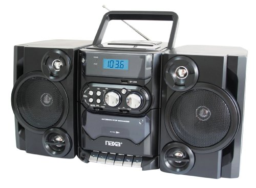 NAXA Electronics Portable MP3/CD Player with AM/FM Stereo Radio and Cassette Player/Recorder (Cd Am Stereo Fm Player)