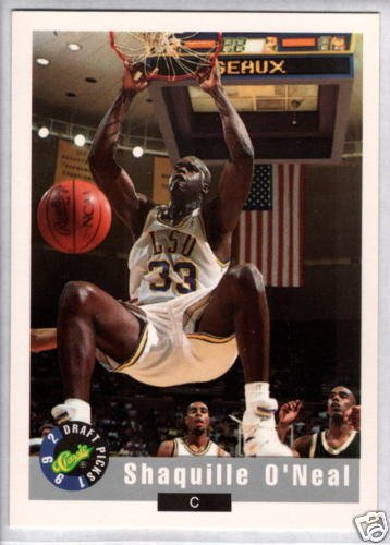 SHAQUILLE O'NEAL 1992 Classic Draft RC #1 (1992 Classic Draft)