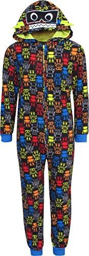 Onsie One Piece (Sleep On It Boy\'s Micro Fleece Onesie Pajamas With Character Hood, Robot, Size 8/10')