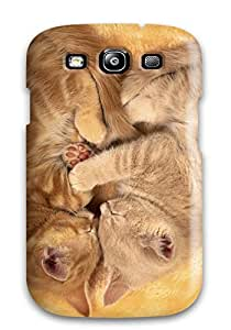 Premium Durable Kitties Forming Heart Fashion Tpu Galaxy S3 Protective Case Cover