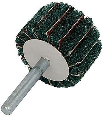 eDealMax 6 mm Vástago 40mm Dia cabeza cilíndrica de Nylon de fibra Abrasivas Rueda Verde