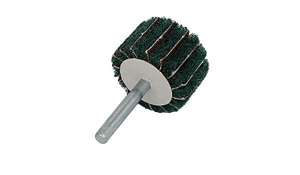 eDealMax 6 mm Vástago 40mm Dia cabeza cilíndrica de Nylon de fibra Abrasivas Rueda Verde: Amazon.com: Industrial & Scientific