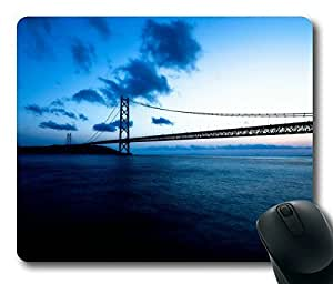 Beautiful Cool Akashi Kaikyo Bridge Masterpiece Limited Design Oblong Mouse Pad by Cases & Mousepads
