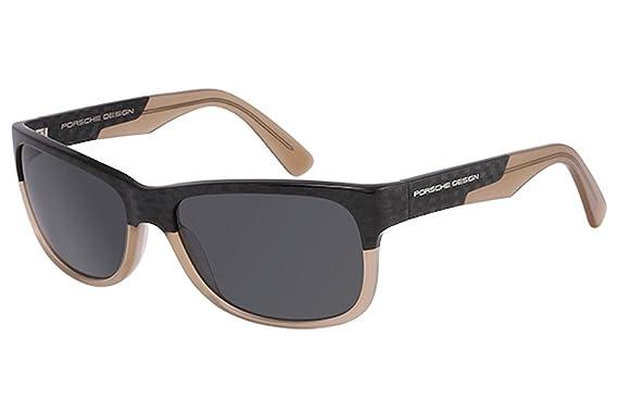 61c505d4788 Amazon.com  Porsche Design P8546 Sunglasses Carbon Sand Frame Grey Lenses  Size 60-16-140  Porsche Design  Clothing
