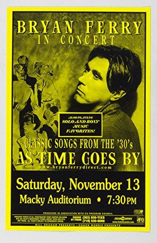 Bryan Ferry Poster In Concert 1999 Nov 13 Boulder CO