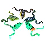 Lixada 5pcs Topwater Frog Fishing Lure Set with Storage Box Topwater Crankbait Soft Bait for Bass Snakehead Pike Dogfish Musky Review