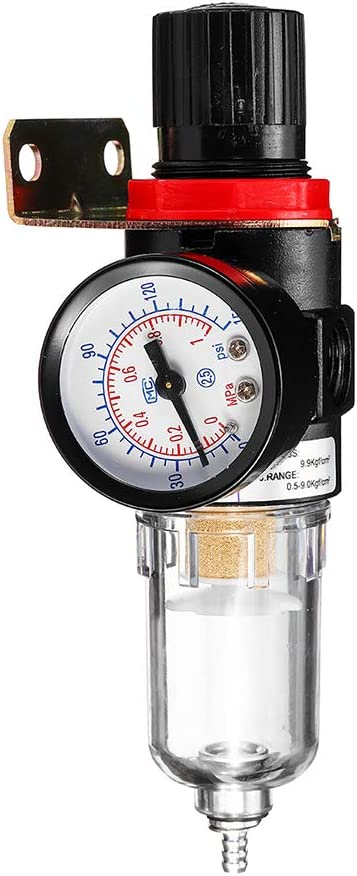 Festnight 1//4kit Outils de pi/ège de s/éparateur Eau de Filtre de compresseur air avec la Mesure de r/égulateur