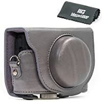 MegaGear Ever Ready Protective Grey Leather Camera Case , Bag for Sony Cyber‑shot DSC‑RX100 V ,DSC-RX100M II, DSC-RX100 III, DSC-RX100 IV Digital Camera