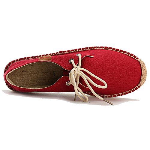 Lace Hombre Lona Alexis Leroy Para De Up Rojo Alpargatas XwzX0n15xq
