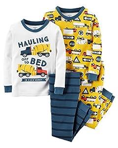 Toddler Boy Carter's 4-pc. Print Pajama Set, Construction