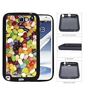 Assorted Jelly Bean Flavors Rubber Silicone TPU Cell Phone Case Samsung Galaxy Note 2 II N7100