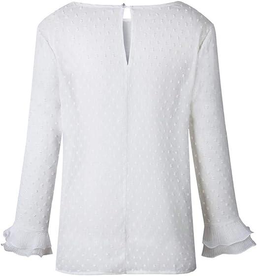 Camisetas Mujer SHOBDW Nueva Impresión De Lunares Tops De ...