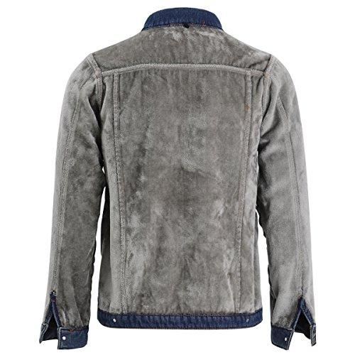 Jean En 1 Longues Homme Bleu Manches Allthemen Jacket Blouson Foncé Fq5x5Tn