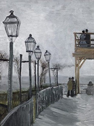 Posterazzi Terrace & Observation Deck at the Moulin de Blute-Fin Montmartre 1886 Vincent van Gogh (1853-1890 Dutch) Oil on canvas Art Institute of Chicago Illinois USA Poster Print (18 x 24)