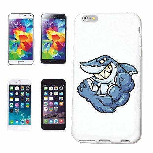 "cas de téléphone iPhone 7+ Plus ""SHARK SHARK HAI SHARK SHARK ATTACK WHITE HAI CatsharK Sandhai Tiger SHARK"" Hard Case Cover Téléphone Covers Smart Cover pour Apple iPhone en blanc"