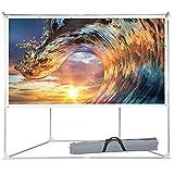 100 inch Projector Screen Outdoor Indoor, Portable Projection Movie Screen Diagonal 16:9 HD