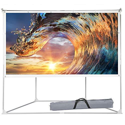 2-in-1 Portable Projector Screen, 100 inch Outdoor Indoor Pr