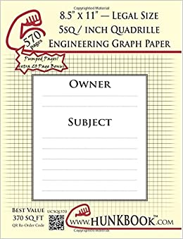 engineering graph paper 570pages cream 5sq inch 1 5 quadrille