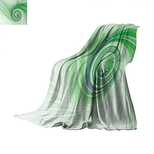 Spires Super Soft Lightweight Blanket A Curve Winds Around Fixed Motif Continuously Increasing Spirals Computer Figure Print Summer Quilt Comforter 70