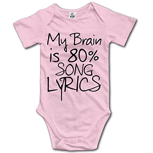 Unisex My Brain Is 80% Song Lyrics Baby Short Sleeve Onesies Mom Baby Ultrasoft Onesie