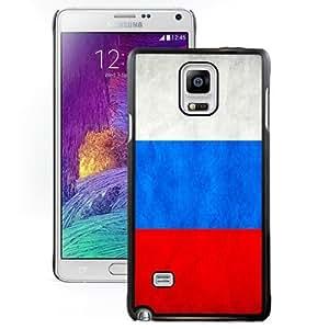 Fashionable Custom Designed Samsung Galaxy Note 4 N910A N910T N910P N910V N910R4 Phone Case With Russia Flag_Black Phone Case