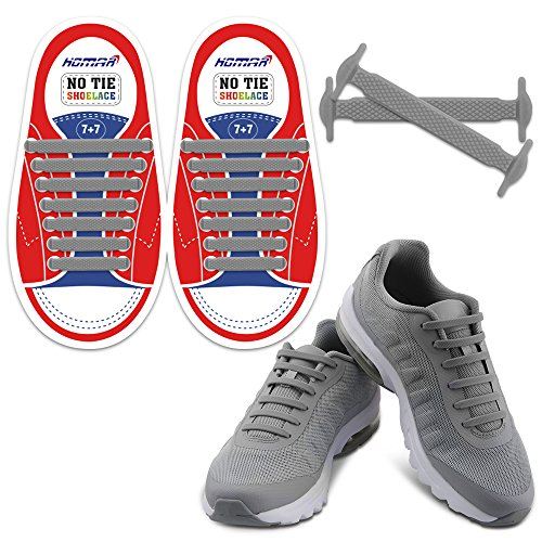 7e9d52c0458ed HOMAR No Tie Shoelaces for Kids and Adults - Best in Sports Fan Shoelaces -  Waterproof
