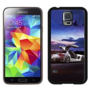 NEW Unique Custom Designed Samsung Galaxy S5 I9600 G900a G900v G900p G900t G900w Phone Case With Mercedes SLS AMG Coupe Black Series_Black Phone Case