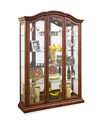 (Philip Reinisch Co. Lighthouse Oxford Curio Cabinet Candlelight Cherry Finish )