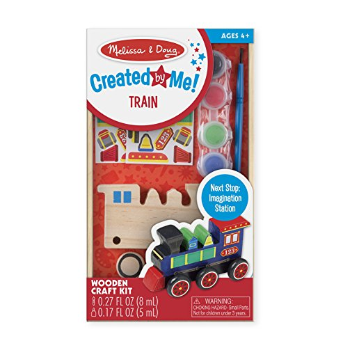 Doug Train Wooden (Melissa & Doug Decorate-Your-Own Wooden Train Craft Kit)