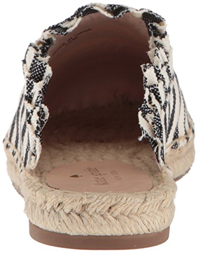 Cream Women's Canvas Laila york Black kate Striped spade Mule new wCqB0P