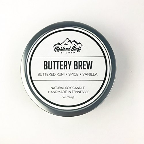 Buttery Brew // Buttered Rum + Spice + Vanilla // Scented Soy Candle // 8oz Travel - Essential Tin Candle