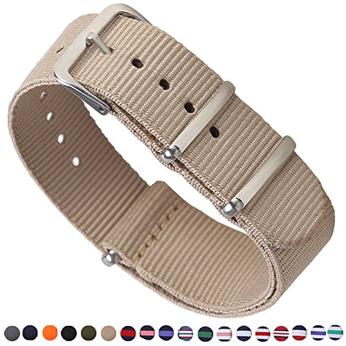 16mm Material (Premium Canvas Fabric Watch Bands Ballistic Nylon Straps Width 16mm 18mm 20mm 22mm 24mm)