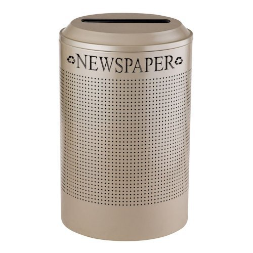 Rubbermaid Commercial Products Silhouette Refuse Container, Recycle Paper, Round ()
