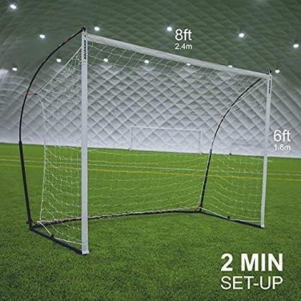 QuickPlay Elite Combo Fútbol GOL Rebounder 3 en 1 (2.4 x 1.8m) | Ganador del Premio ISPO 2016 Oro: Amazon.es: Deportes y aire libre