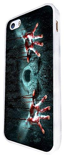 1106 - Cool Fun Scary Ghost Zombie Blood Alien Vampire Death Design iphone SE - 2016 Coque Fashion Trend Case Coque Protection Cover plastique et métal - Blanc