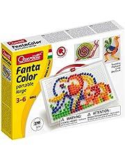 Quercetti 0952 - mozaïek-steekspel Fanta Color Large, 270 stekker 10 mm