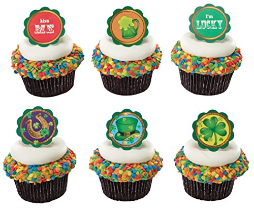 (St. Patricks Day Icons Layon Cupcake Toppers - Pack of)