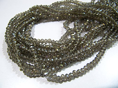 Beautiful Mystic Coated Labradorite Rondelle Faceted Beads / 3mm Size Hydro Quartz Beads / 14-15 inch long / approx. 150 Beads per ()