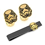 Stormtrooper Cufflinks/Tie Bar Set