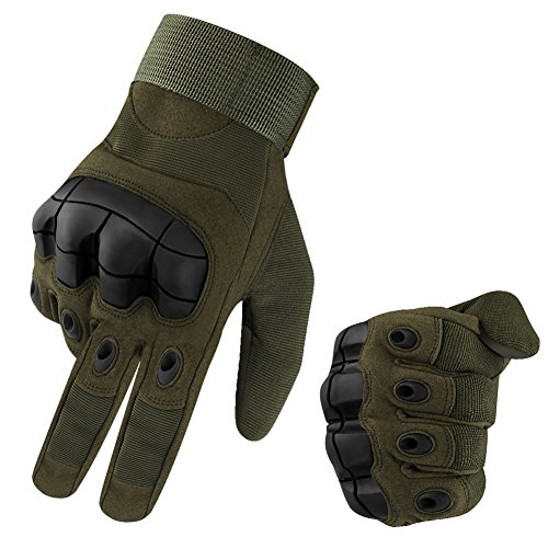 accmor Touch Screen Tactical Military Hard Knuckle Combat Gloves Full Finger Fit for Cycling Motorcycle Hiking Camping Airsoft Paintball