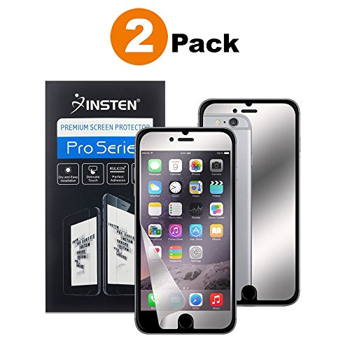 us Screen Protector, Insten [2 Pack] Premium Mirror Anti-Scratch LCD Screen Protector Bubble Free HD Film No Rainbow Effect Shield Guard For Apple iPhone 8 Plus / 7 Plus (5.5