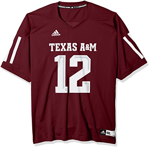 NCAA Texas A&M Aggies Adult Men NCAA Replica Football Jersey, X-Large, Maroon (Mens Football Replica)