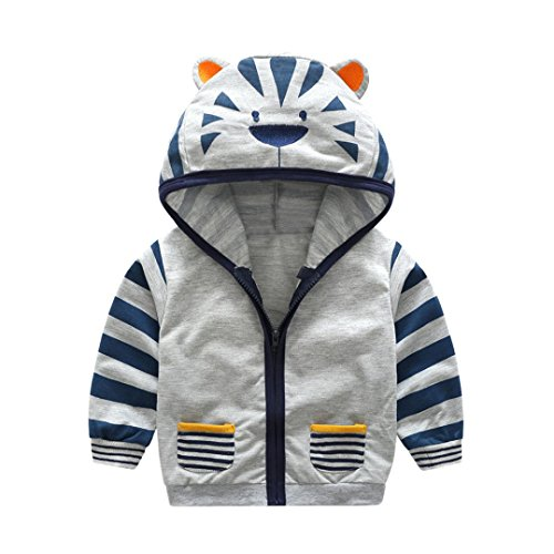 Sunbona Toddler Baby Boys Cute Cartoon Animal Hooded Zipper