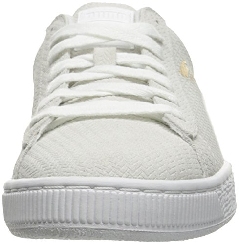 Puma Womens Basket Remaster Wns Fashion Sneaker Puma Bianco