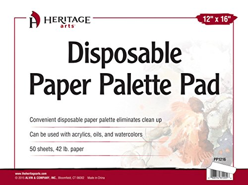 Heritage Arts PP1216 Disposable Paper Palette Pad 12 inches x 16 inches by Heritage Arts