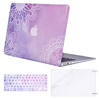 Mosiso Plastic Hard Case with Keyboard Cover with Screen Protector for MacBook Air 13 Inch with Pattern