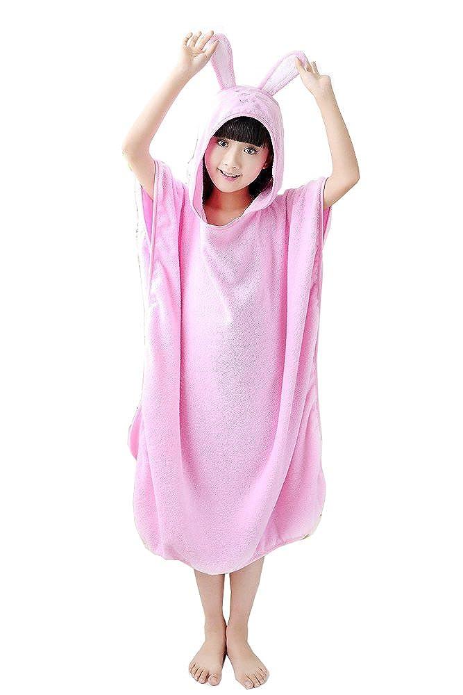 Comfysail Children's Unisex 100% Cotton Hooded Bath Towel Poncho Bathrobe Shower Towelling Swimming Girls Boys