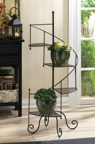 Elegant Spiral Plant Stand Stylish Plants Platforms Metal Standing Iron 17