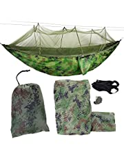 Felenny Camping Hammocks, Portable Camping Travel Hammock Hanging Bed with Mosquito Net for Outdoor, Indoor (Camouflage)